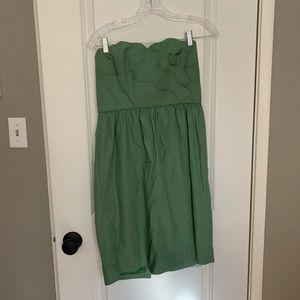 Green Jcrew party dress!